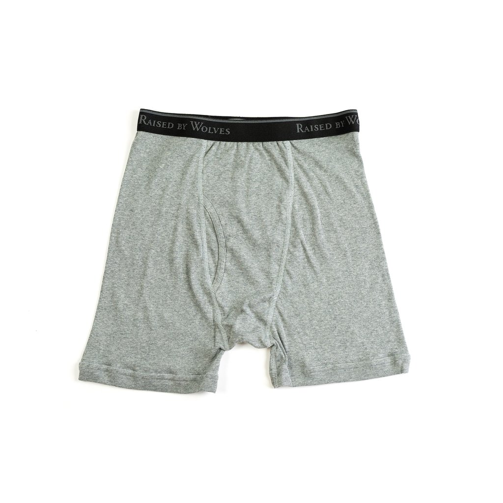 【RAISED BY WOLVES/レイズドバイウルブス】RBW/STANFIELDS BOXER BRIEFS (2 PACK) ボクサーパンツ / GREY