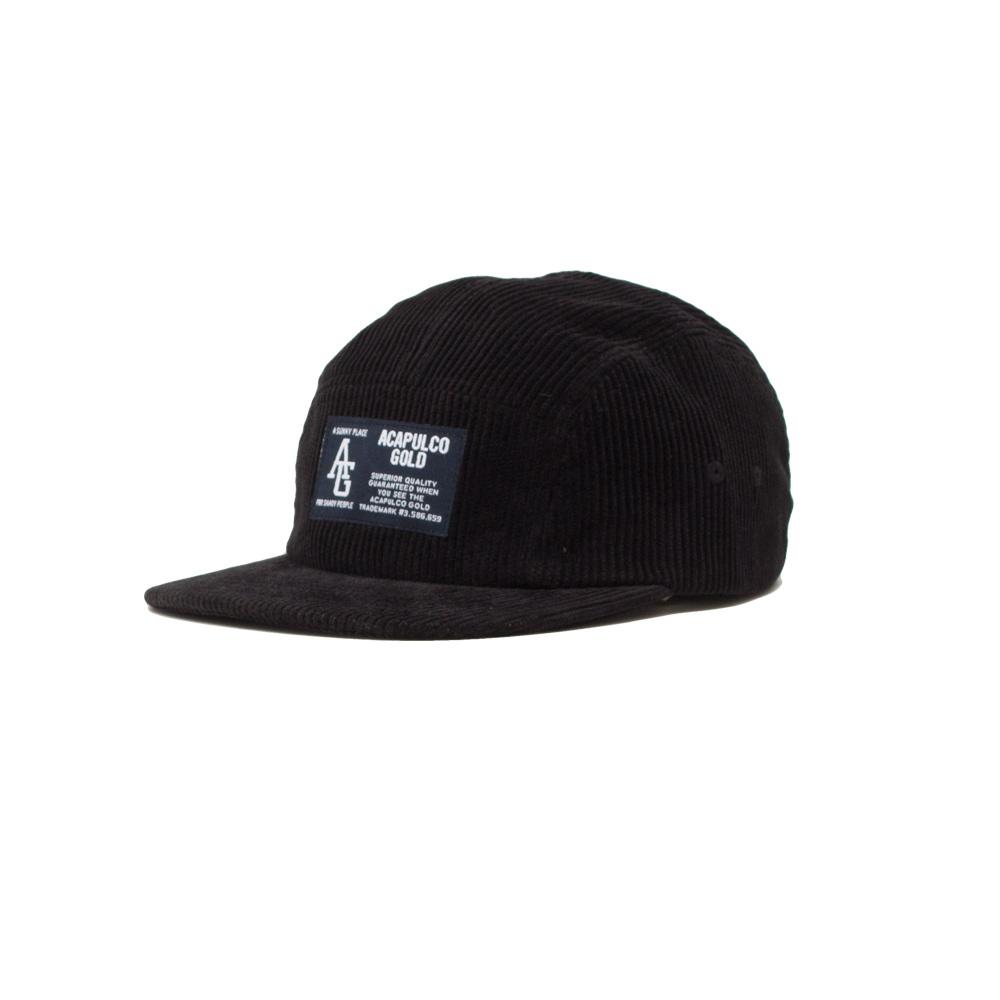 【ACAPULCO GOLD/アカプルコ ゴールド】AG CORDUROY CAMP CAP ストラップバックキャップ / BLACK