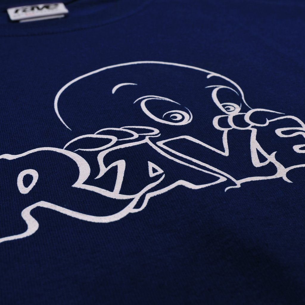 【RAVE SKATEBOARDS/レイブスケートボード】FRIENDLY GHOST TEE Tシャツ / NAVY