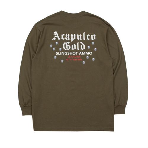 【ACAPULCO GOLD/アカプルコ ゴールド】SLINGSHOT POCKET TEE ロングTシャツ / OLIVE