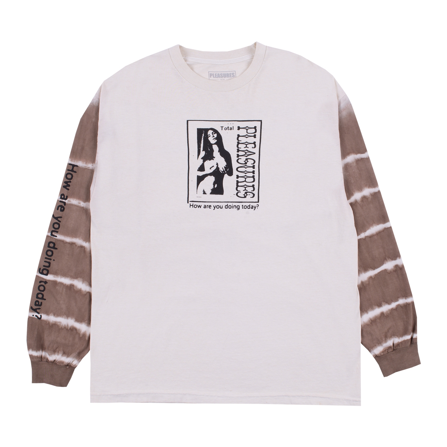 【PLEASURES/プレジャーズ】COVER GIRL LONG SLEEVE T-SHIRT ロングTシャツ / TAN/BROWN