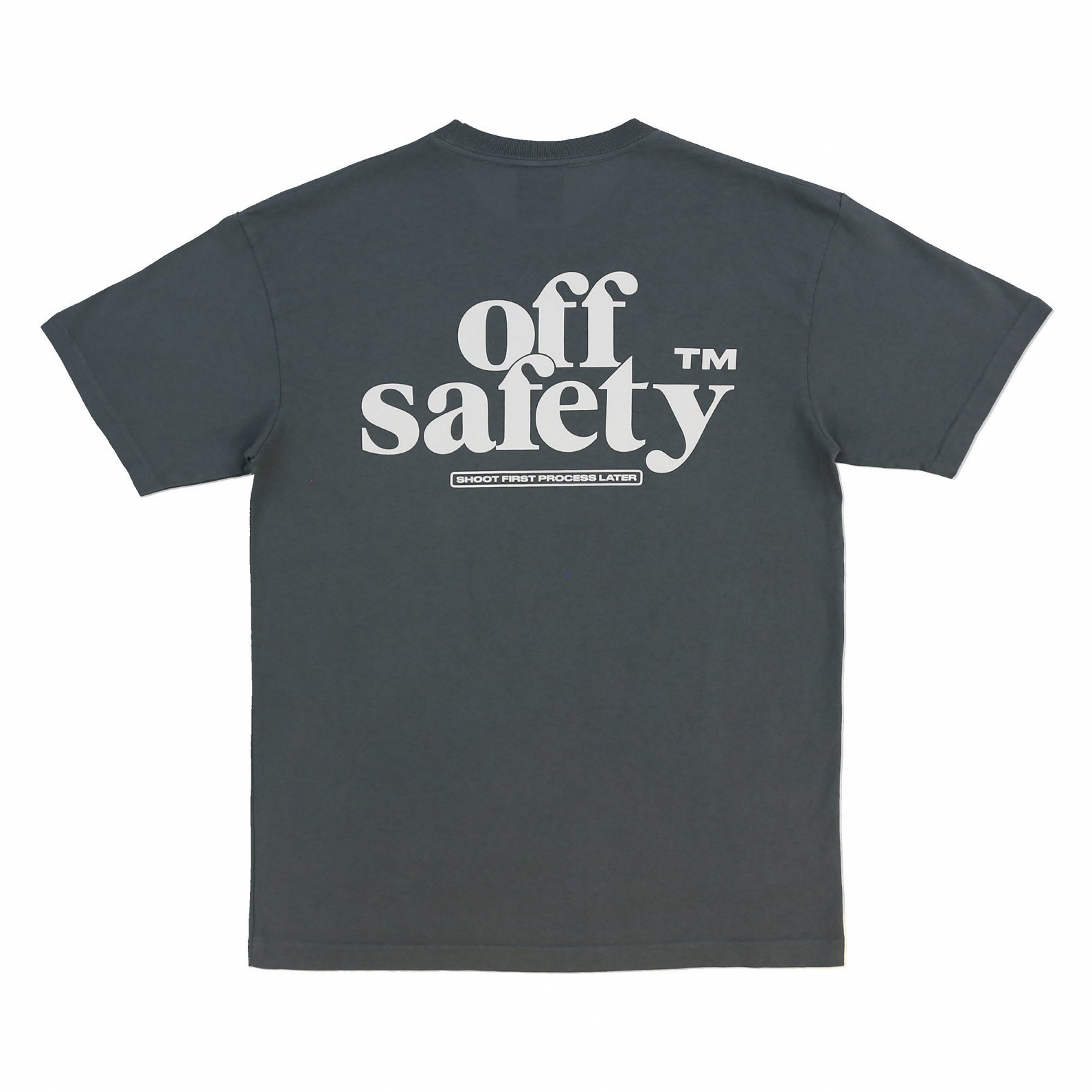 【OFF SAFETY/オフセーフティー】SHOOT FIRST TEE Tシャツ / CHARCOAL