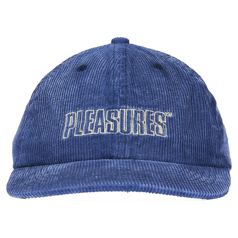 【PLEASURES/プレジャーズ】IMPULSE CORDUROY HAT コーデュロイキャップ / BLUE