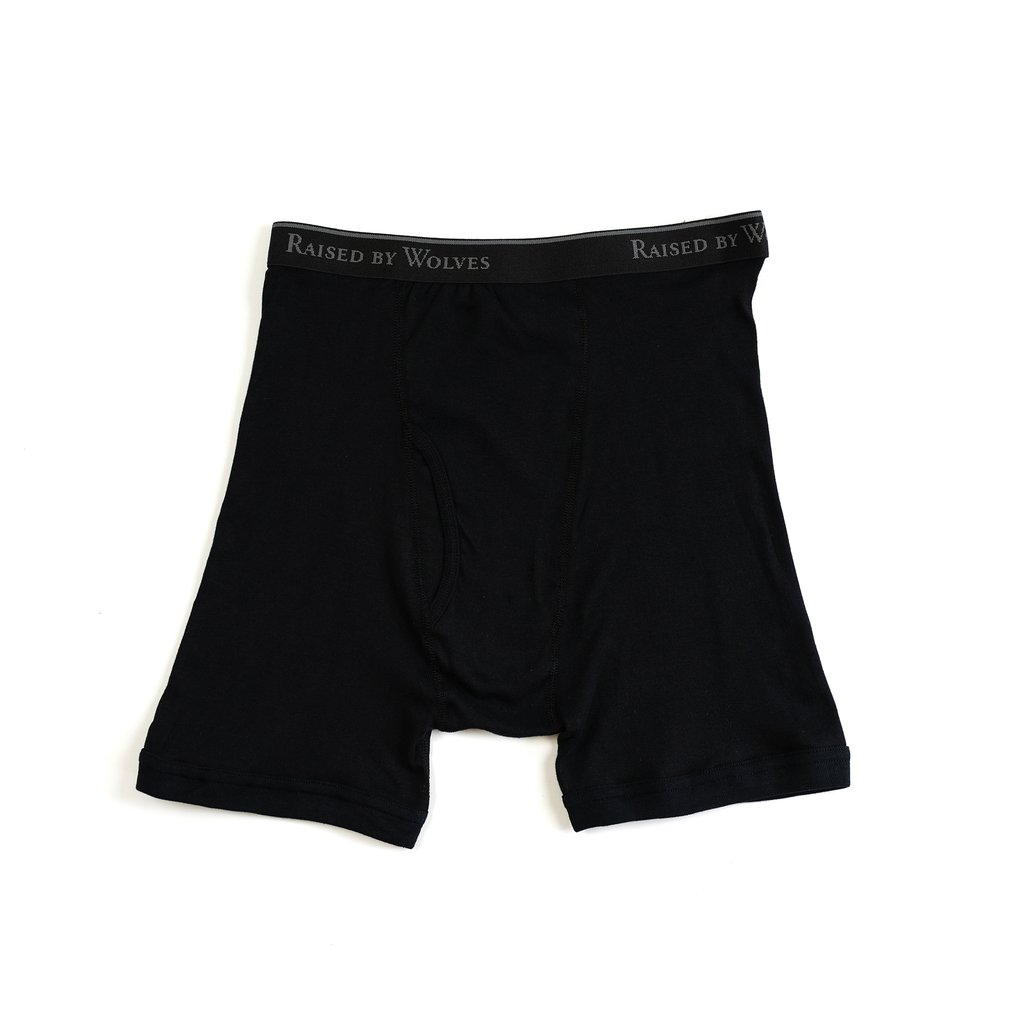 【RAISED BY WOLVES/レイズドバイウルブス】RBW/STANFIELDS BOXER BRIEFS (2 PACK) ボクサーパンツ / BLACK