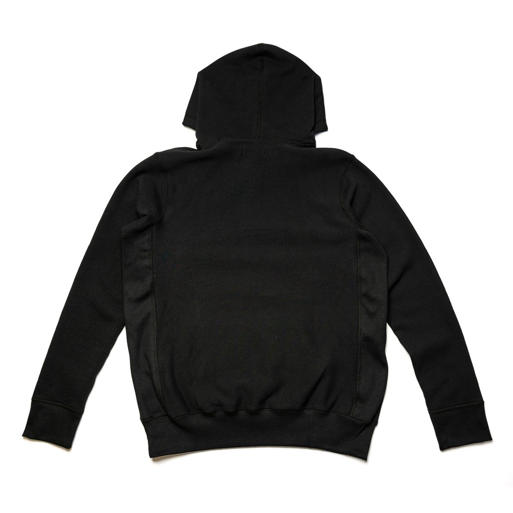 【RAISED BY WOLVES/レイズドバイウルブス】BRUTALIST HOODED SWEATSHIRT バーカー / BLACK