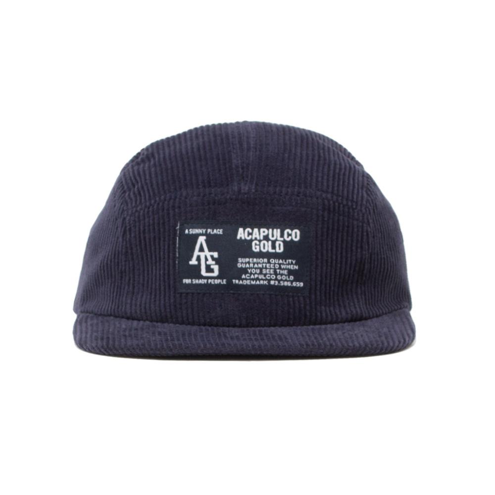 【ACAPULCO GOLD/アカプルコ ゴールド】AG CORDUROY CAMP CAP ストラップバックキャップ / NAVY
