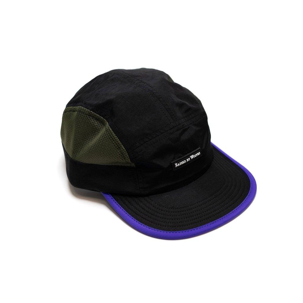 【RAISED BY WOLVES/レイズドバイウルブス】RUNNING CAP ストラップバックキャップ / BLACK