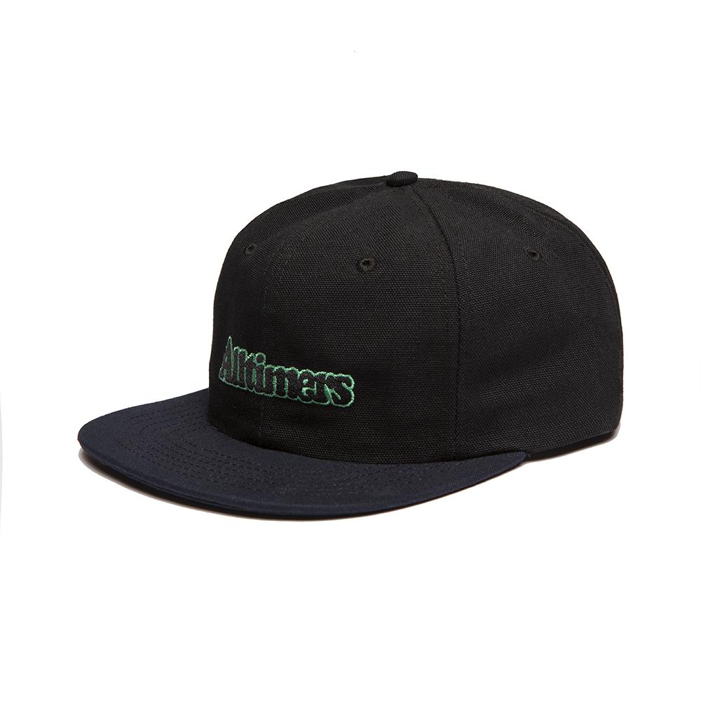 【ALLTIMERS/オールタイマーズ】BROADWAY HAT スナップバックキャップ / BLACK DARK NAVY