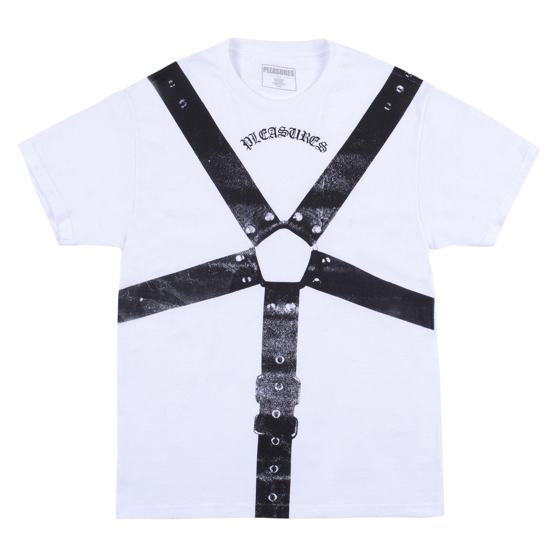 【PLEASURES/プレジャーズ】HARNESS T-SHIRT Tシャツ / WHITE
