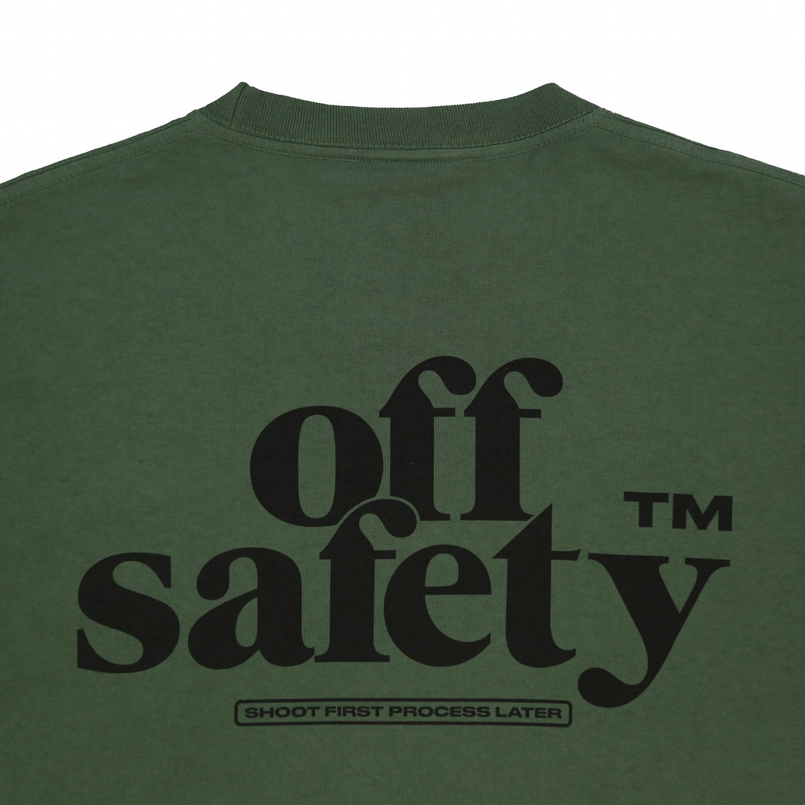 【OFF SAFETY/オフセーフティー】SHOOT FIRST TEE Tシャツ / OLIVE