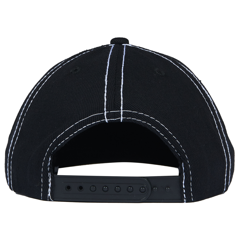 【PLEASURES/プレジャーズ】IRIS 6 PANEL HAT 6パネルキャップ / BLACK