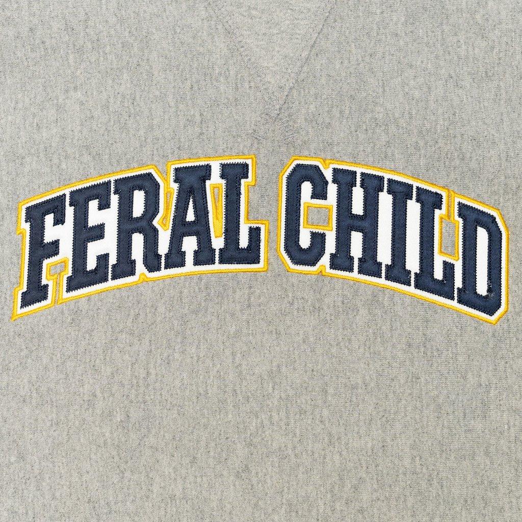 【RAISED BY WOLVES/レイズドバイウルブス】FERAL CHILD CREWNECK SWEATSHIRT クルーネックスウェット / HEATHER GREY