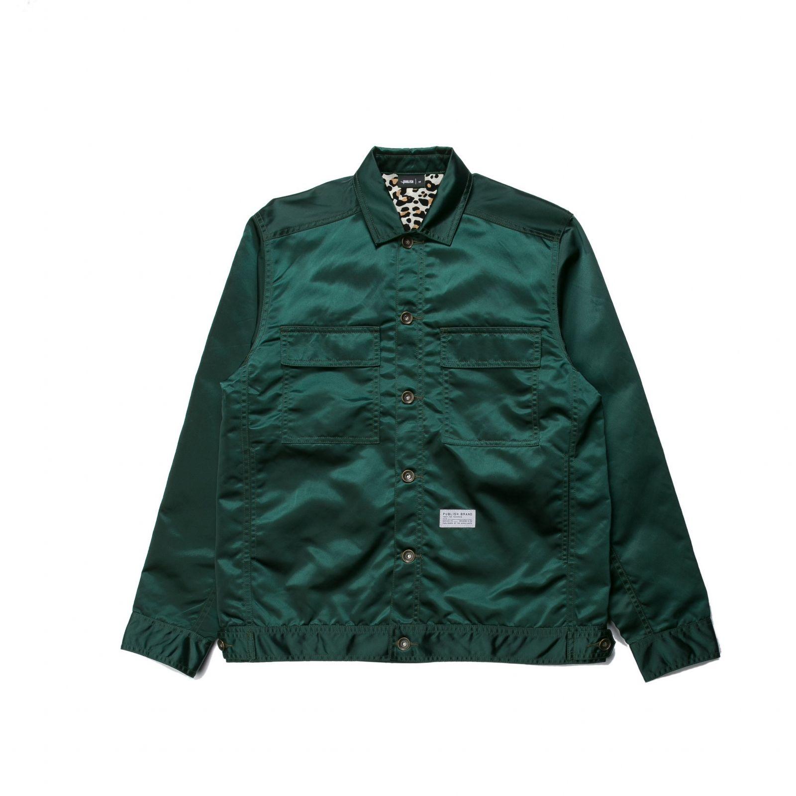 【PUBLISH BRAND/パブリッシュブランド】GLAZE ナイロンワークジャケット / GREEN