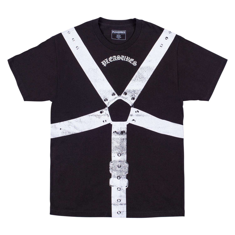 【PLEASURES/プレジャーズ】HARNESS T-SHIRT Tシャツ / BLACK