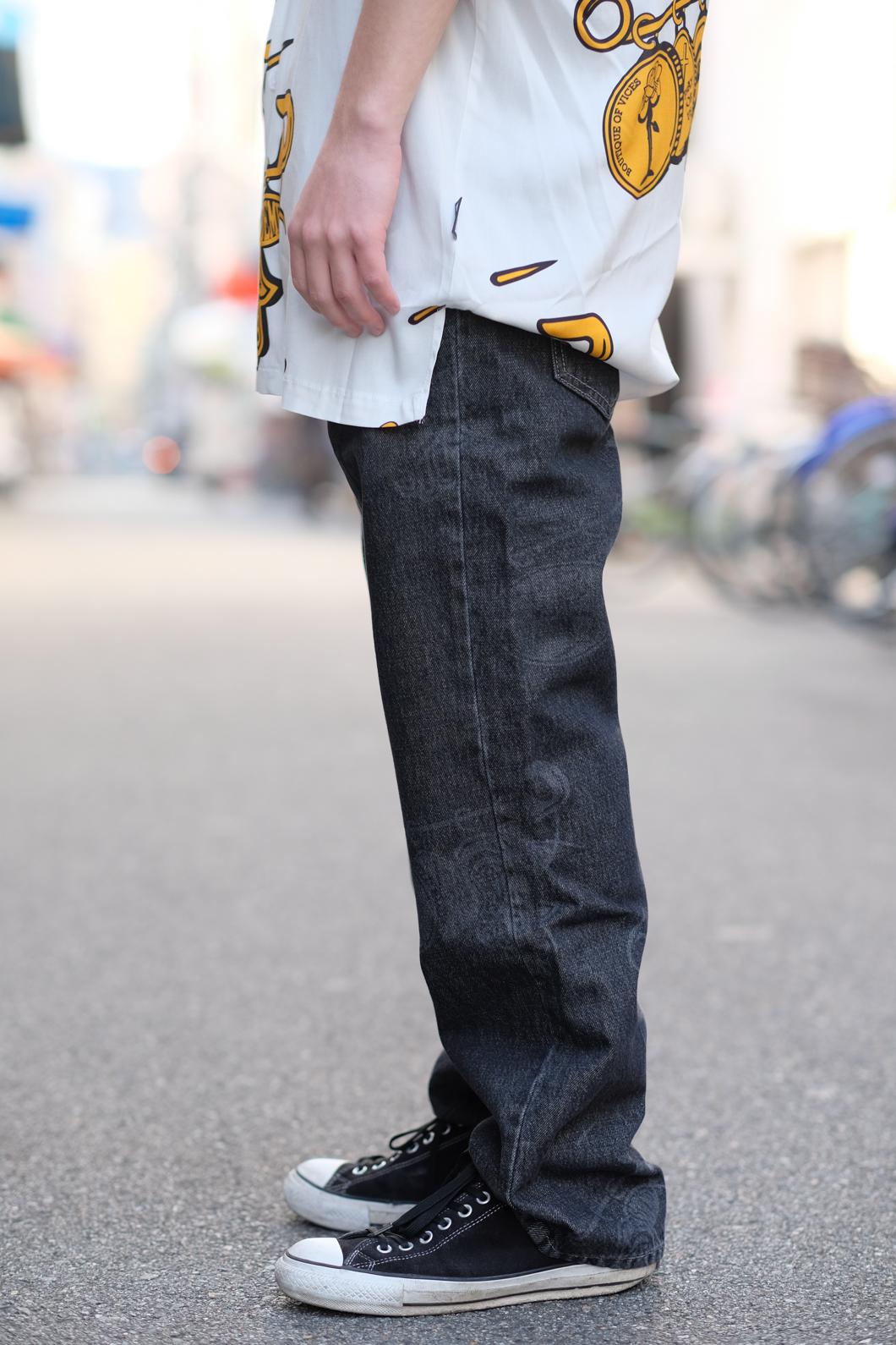 【PAS DE MER/パドゥメ】MEDALS PANTS パンツ / BLACK