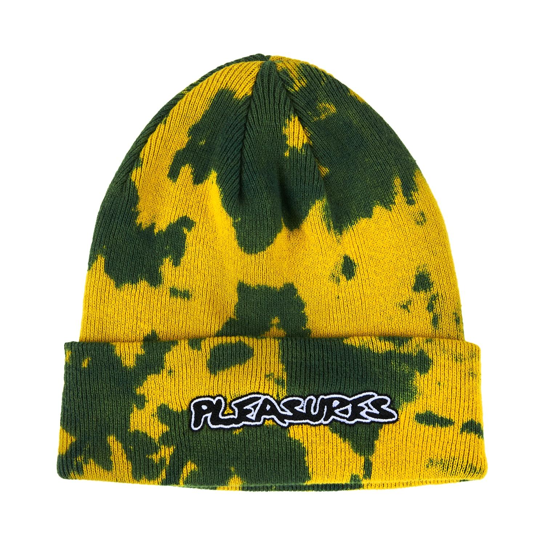 【PLEASURES/プレジャーズ】BACKBONE DYED BEANIE ニット帽 / YELLOW