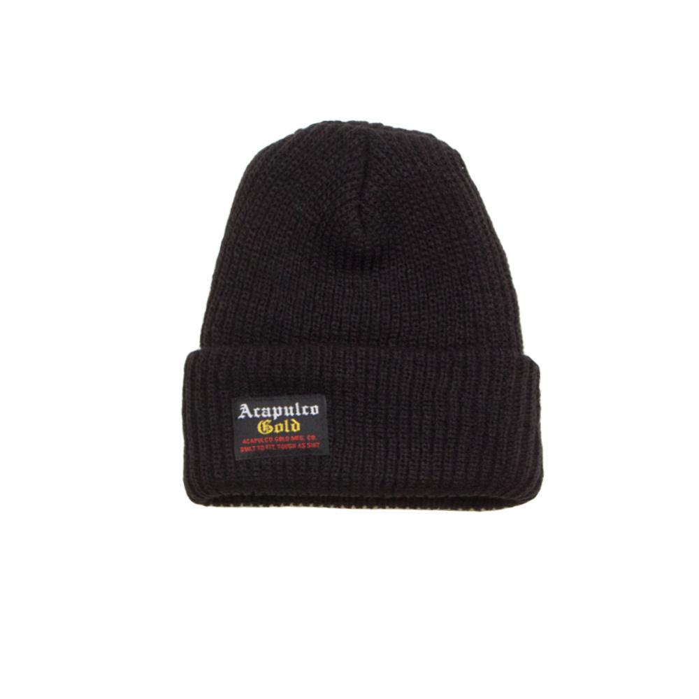 【ACAPULCO GOLD/アカプルコ ゴールド】OG STANDARD BEANIE ニット帽 / BLACK
