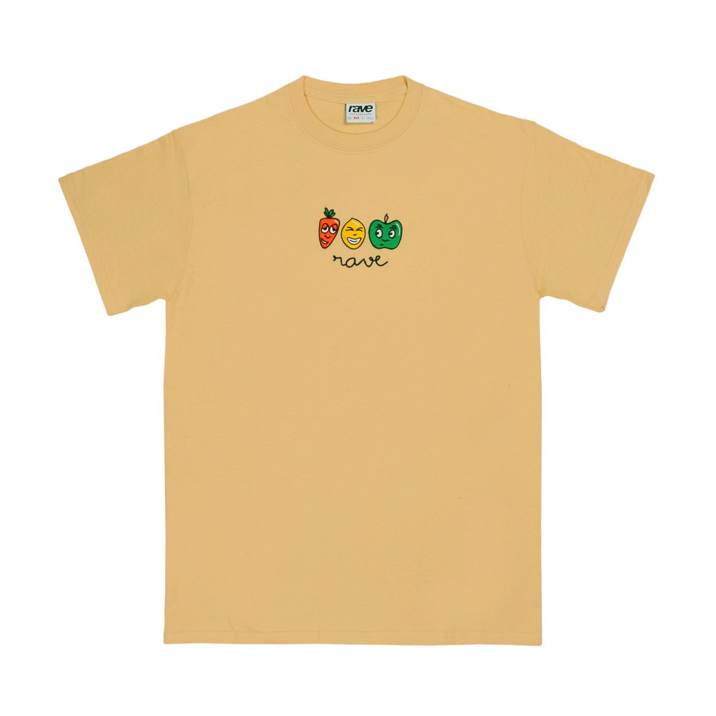 【RAVE SKATEBOARDS/レイブスケートボード】MANGEZ BOUGEZ TEE Tシャツ / CREAM