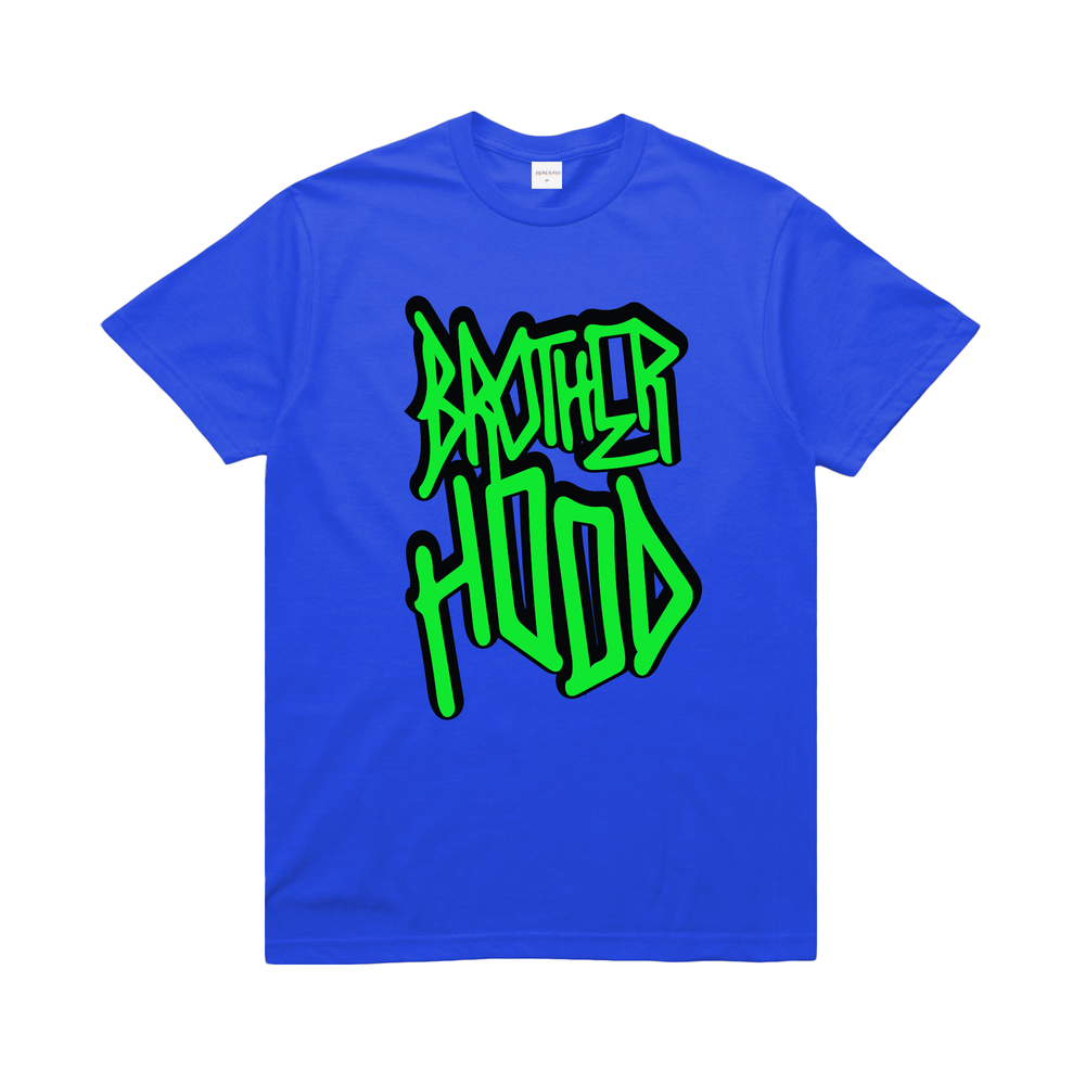 【BROTHER HOOD/ブラザーフッド】ICONIC STACKED T-SHIRT Tシャツ / ROYAL BLUE