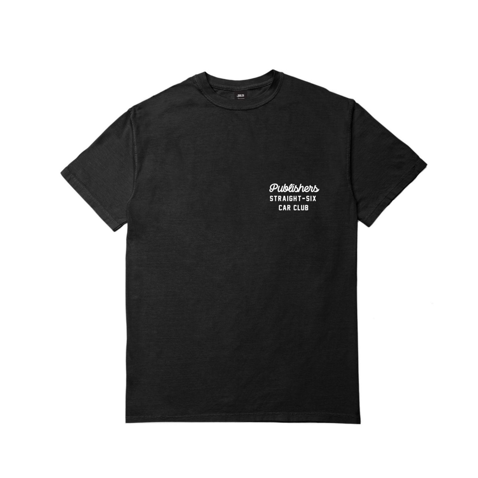 【PUBLISH BRAND/パブリッシュブランド】CAR CLUB Tシャツ / BLACK