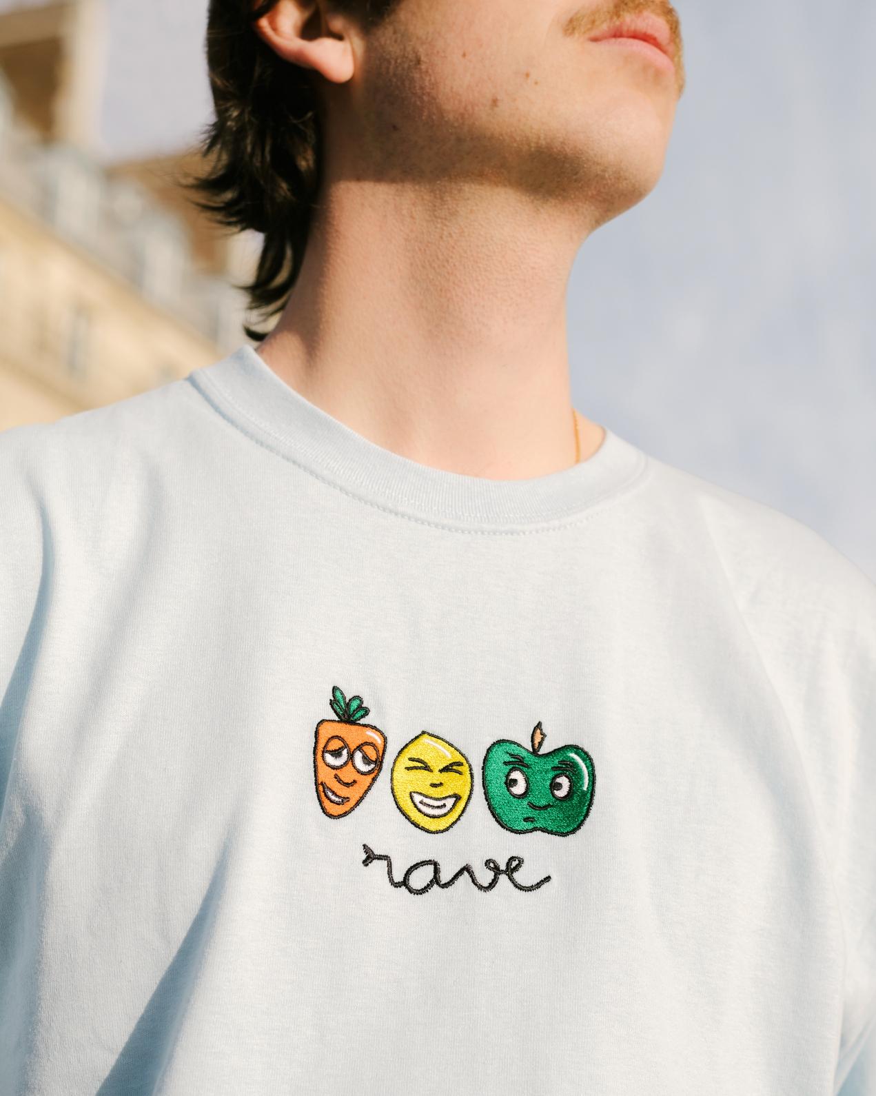【RAVE SKATEBOARDS/レイブスケートボード】MANGEZ BOUGEZ TEE Tシャツ / WHITE