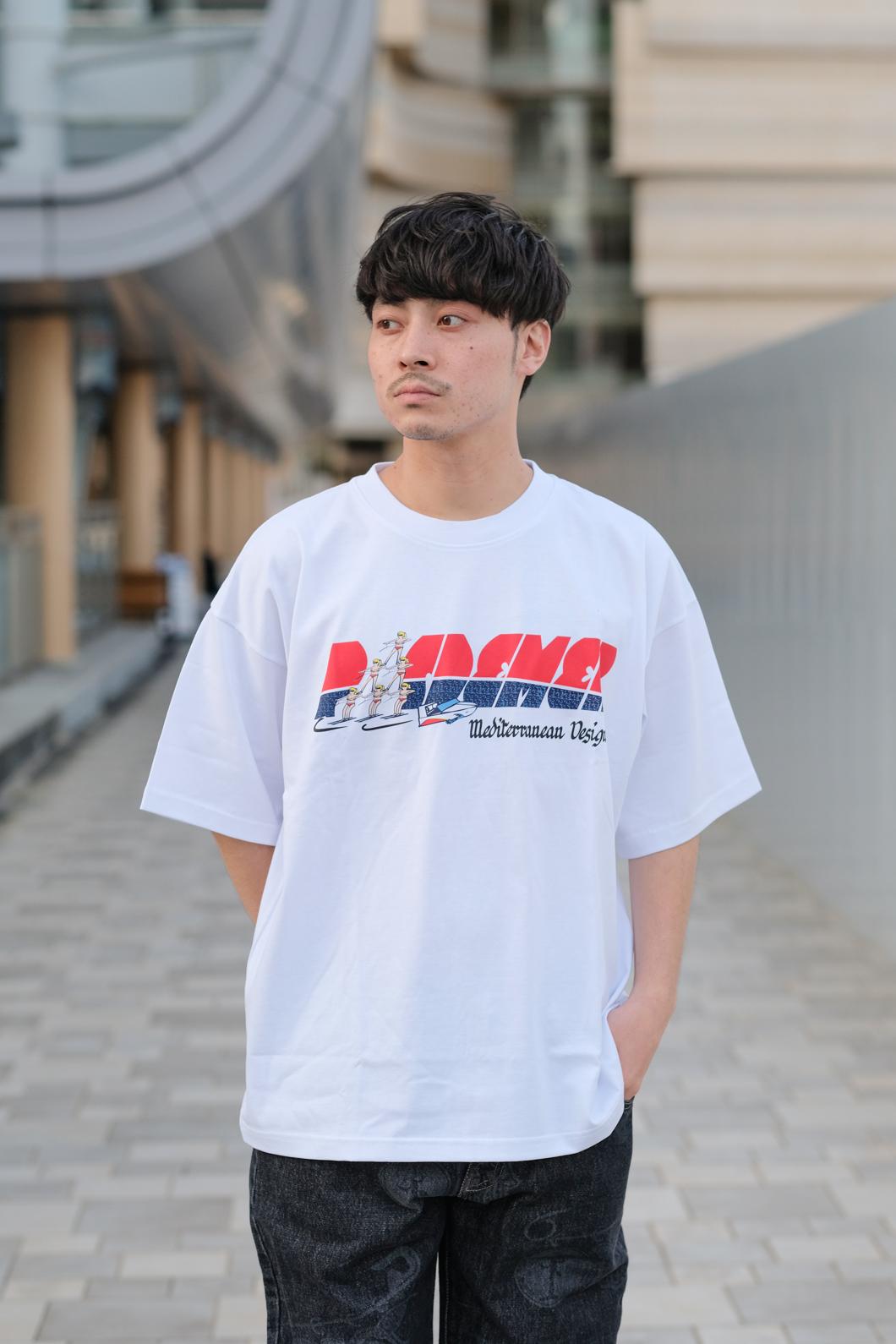 【PAS DE MER/パドゥメ】NEW MED DESIGN T-SHIRT オーバーサイズTシャツ / WHITE