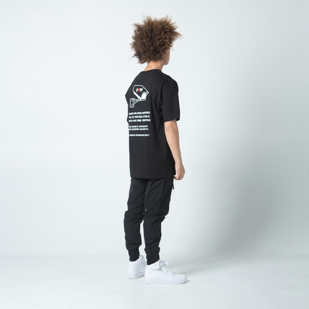 【FAIRPLAY BRAND/フェアプレイブランド】WARNING Tシャツ / BLACK