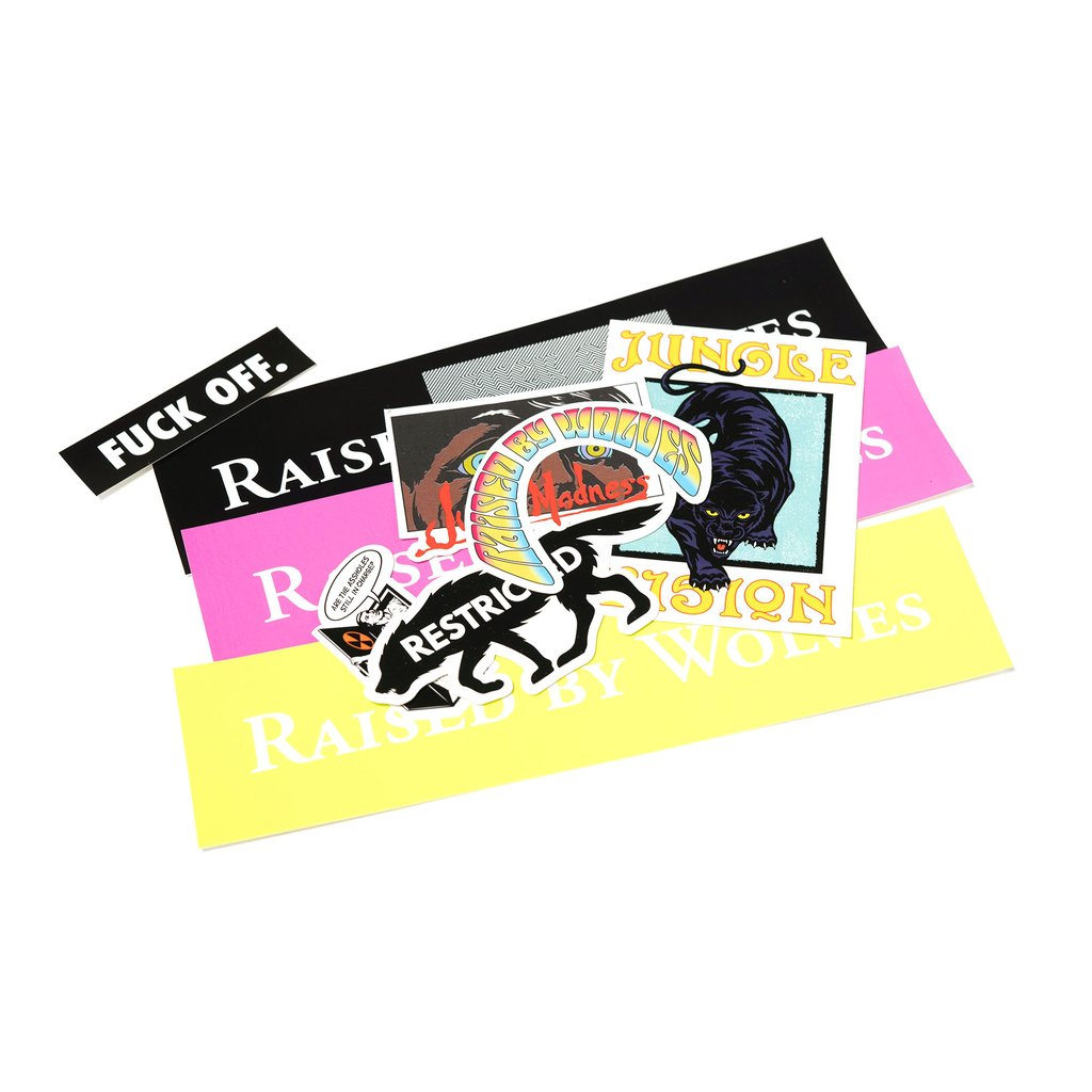 【RAISED BY WOLVES/レイズドバイウルブス】ASSORTED STICKERS (25 PACK) ステッカーパック / MIX