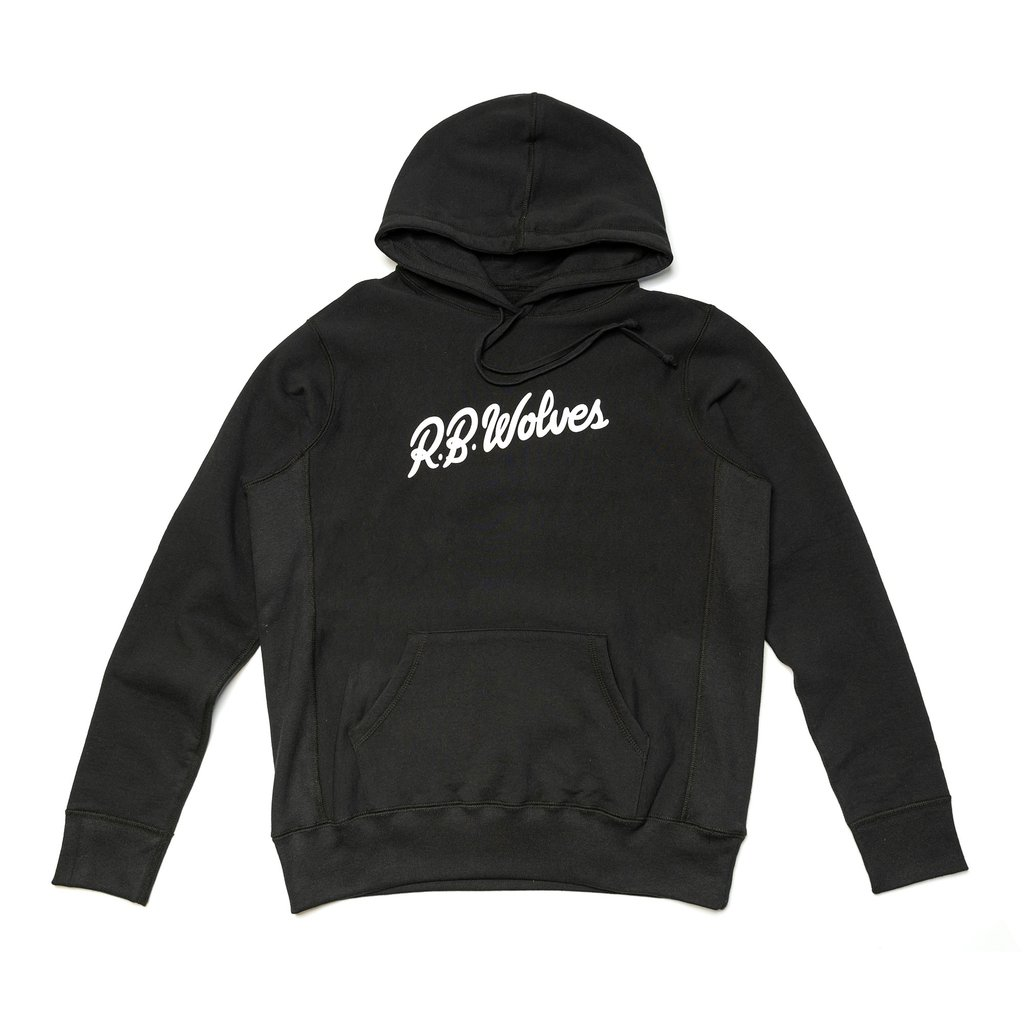 【RAISED BY WOLVES/レイズドバイウルブス】SIGNATURE HOODED SWEATSHIRT バーカー / BLACK