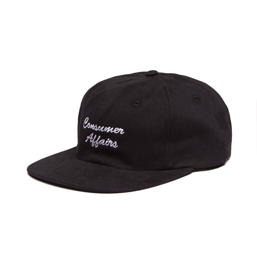 【ALLTIMERS/オールタイマーズ】CONSUMER AFFAIRS HAT ストラップバックキャップ / BLACK