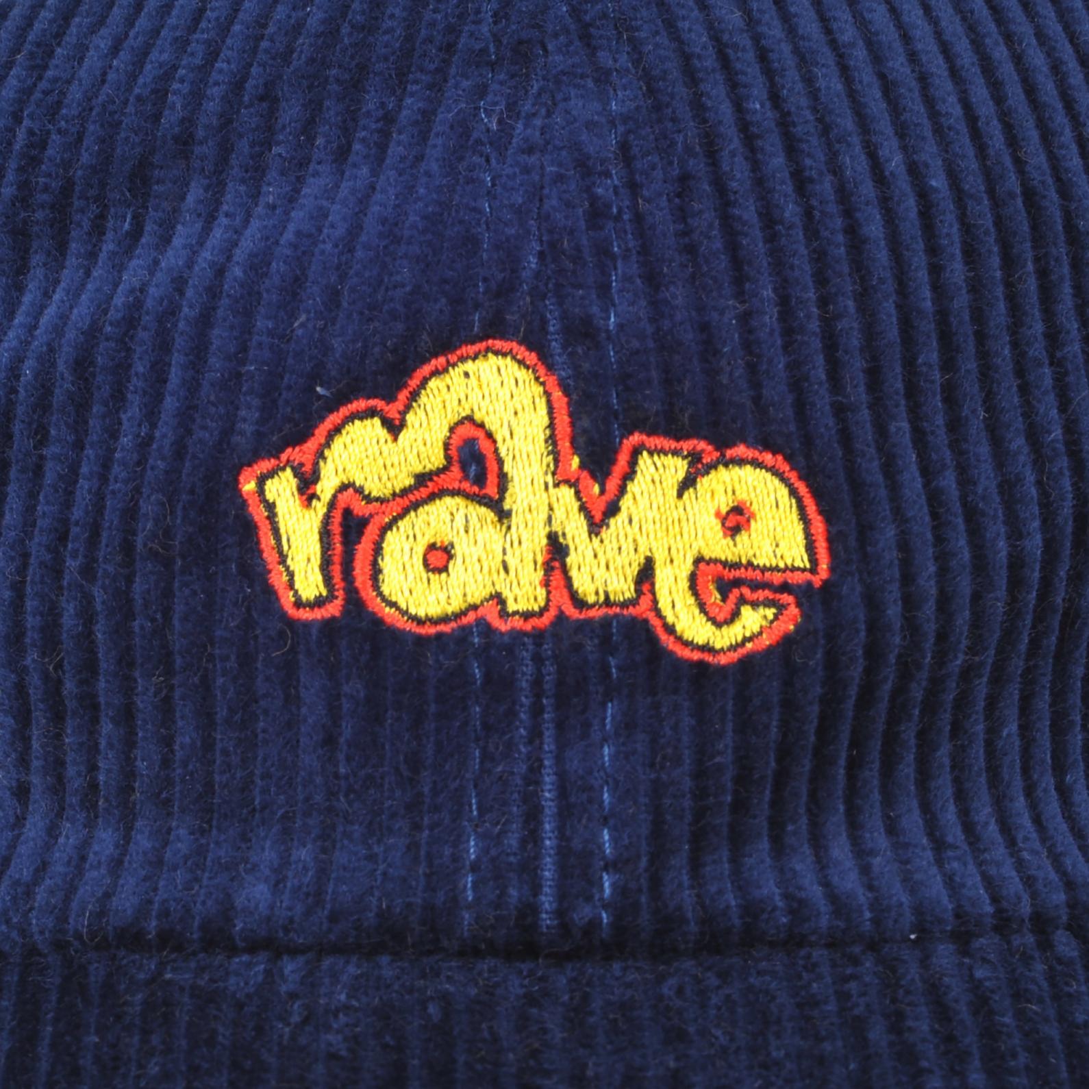 【RAVE SKATEBOARDS/レイブスケートボード】SPIKE CORDUROY CAP コーデュロイダドキャップ / NAVY