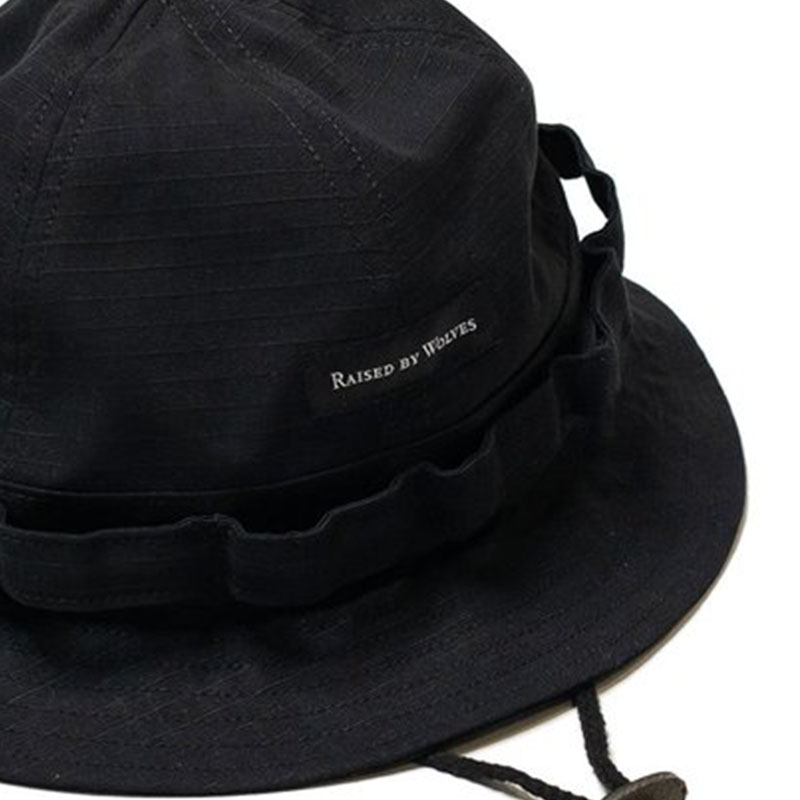 【RAISED BY WOLVES/レイズドバイウルブス】TACTICAL BELL HAT ベルハット / BLACK