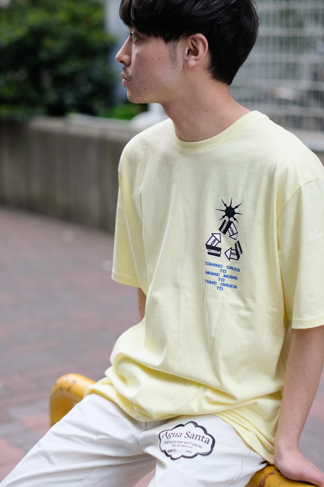 【PAS DE MER/パドゥメ】SPACEMAN3 T-SHIRT Tシャツ / YELLOW