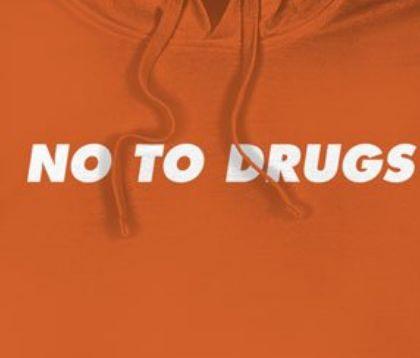 【DGK/ディージーケー】DGK NO TO DRUGS HOOODED FLEECE パーカー / ORANGE