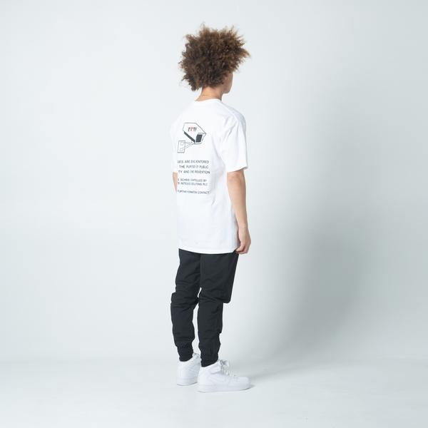 【FAIRPLAY BRAND/フェアプレイブランド】WARNING Tシャツ / WHITE