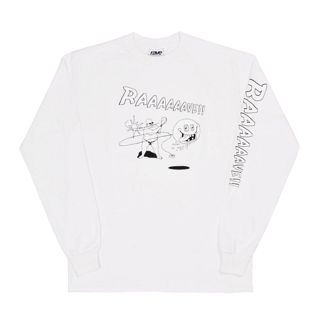 【RAVE SKATEBOARDS/レイブスケートボード】JOKARI LS TEE ロングTシャツ / WHITE