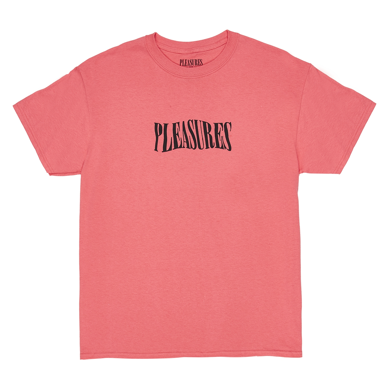 【PLEASURES/プレジャーズ】PARTY LOGO T-SHIRT Tシャツ / CORAL