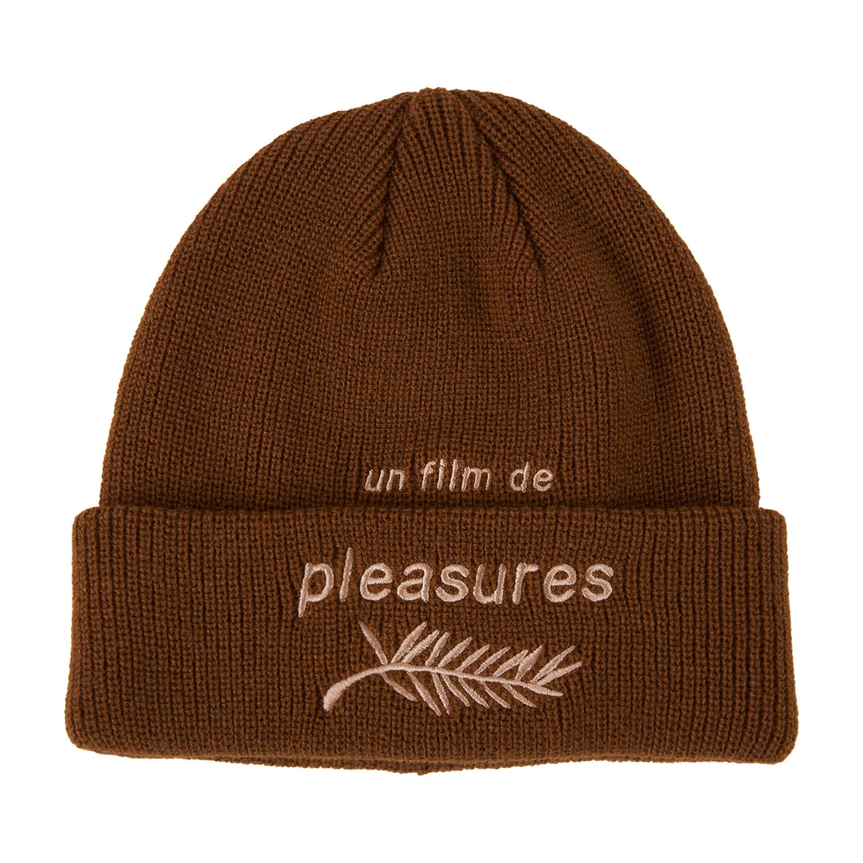【PLEASURES/プレジャーズ】FILM BEANIE ニット帽 / BROWN