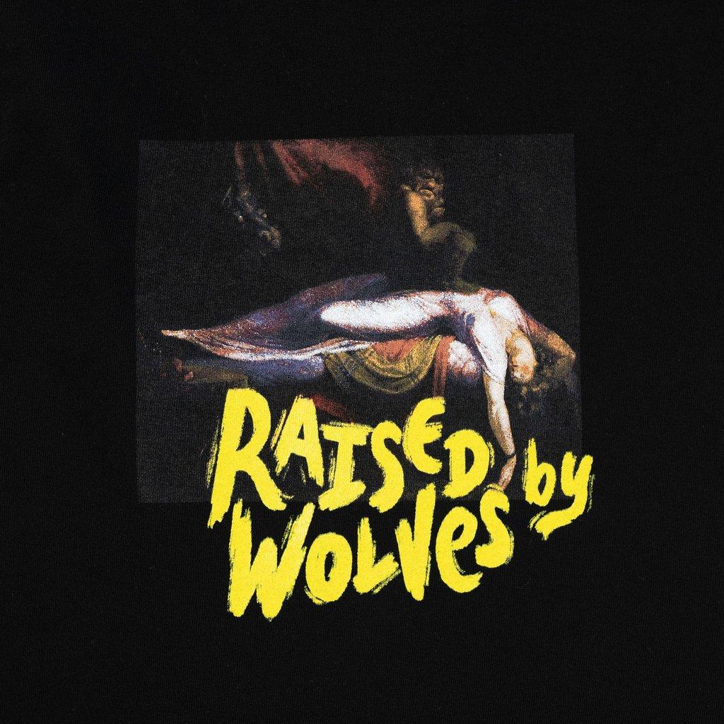 【RAISED BY WOLVES/レイズドバイウルブス】SLEEP PARALYSIS T-SHIRT Tシャツ / BLACK