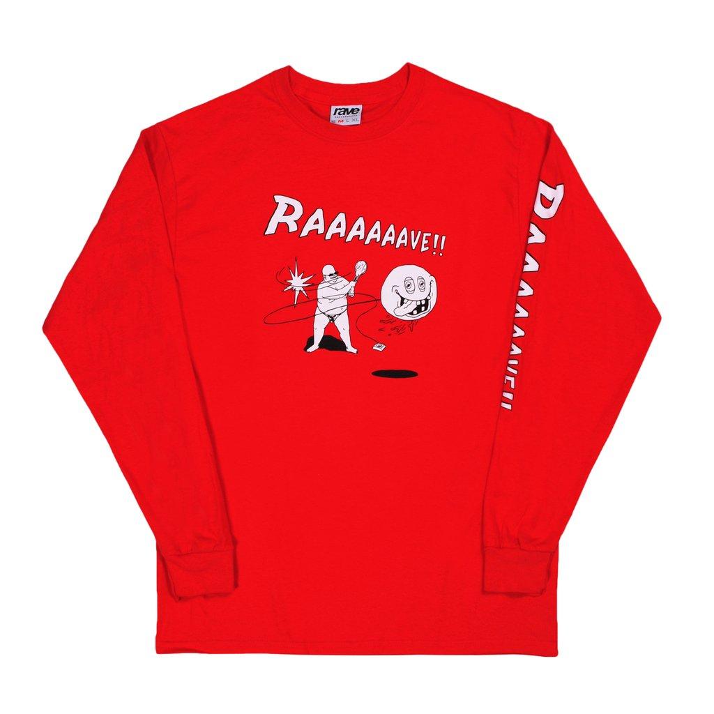 【RAVE SKATEBOARDS/レイブスケートボード】JOKARI LS TEE ロングTシャツ / RED