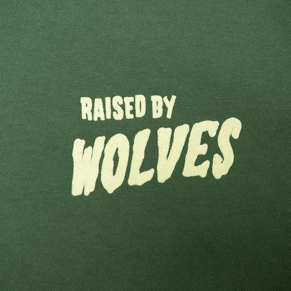 【RAISED BY WOLVES/レイズドバイウルブス】FRIGHTENSTEIN TEE Tシャツ / SPRUCE