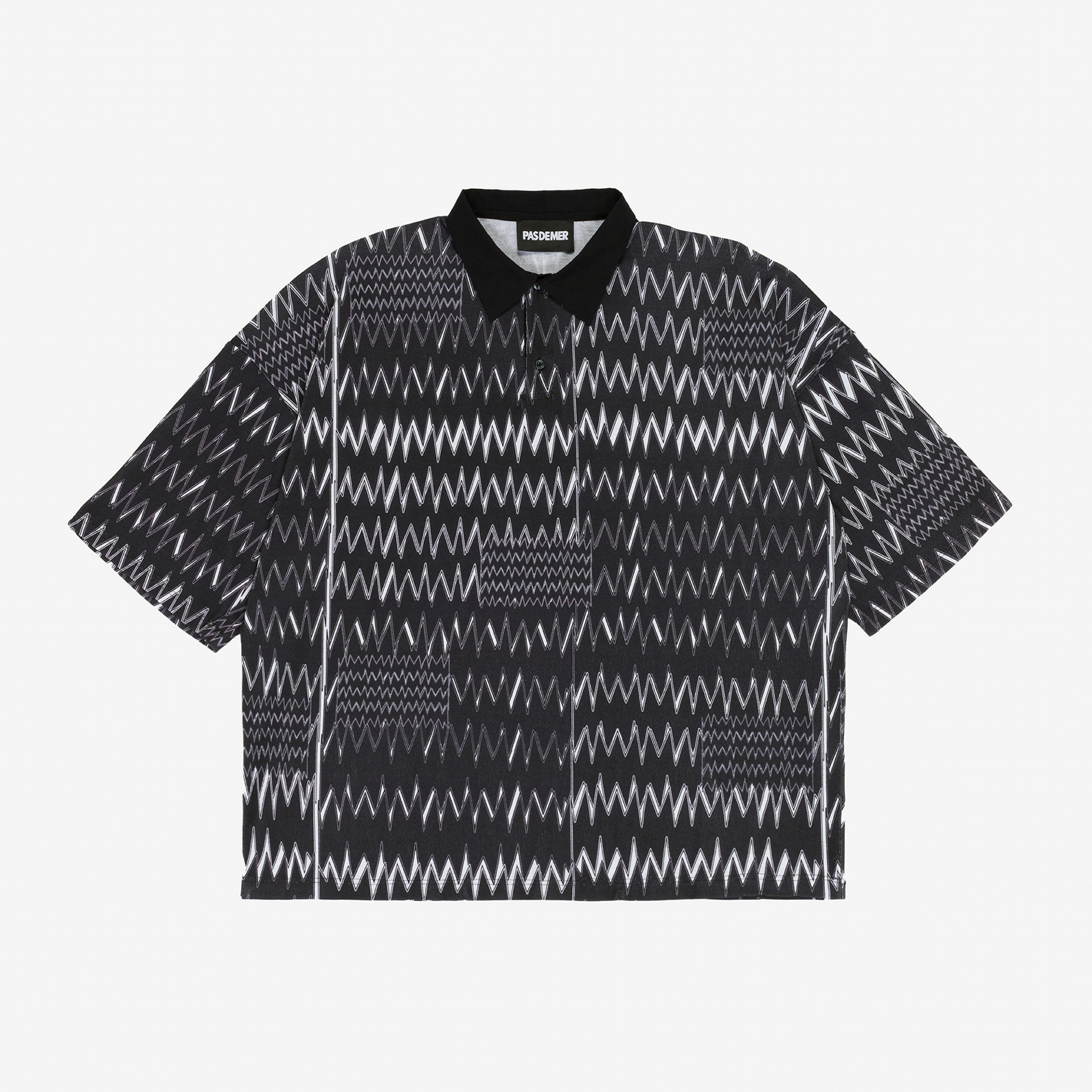 【PAS DE MER/パドゥメ】SCOSSA POLO オーバーサイズポロシャツ / BLACK