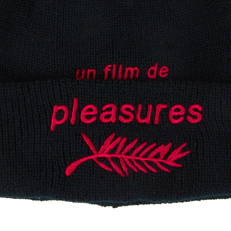 【PLEASURES/プレジャーズ】FILM BEANIE ニット帽 / BLACK