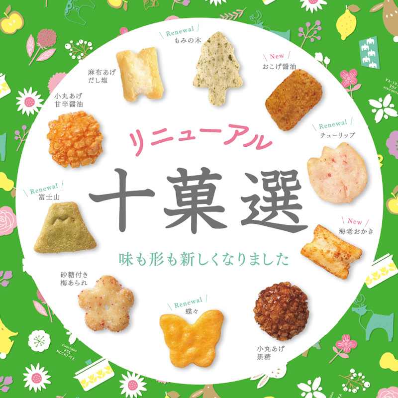 B3213 【新】 十菓選 段重ね (中缶+大缶)
