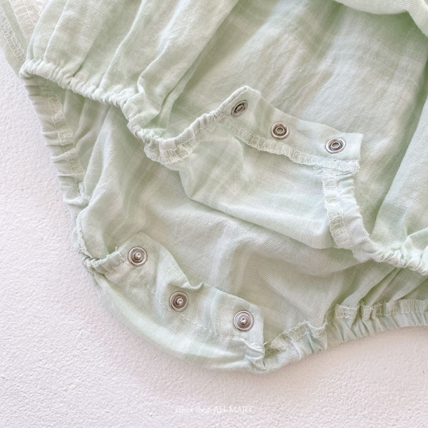 Baby Shadow check Rompers 全2色 66-90cm