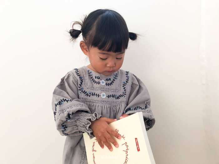 Embroidery One-piece 90-110cm [5/5まで5%OFF]