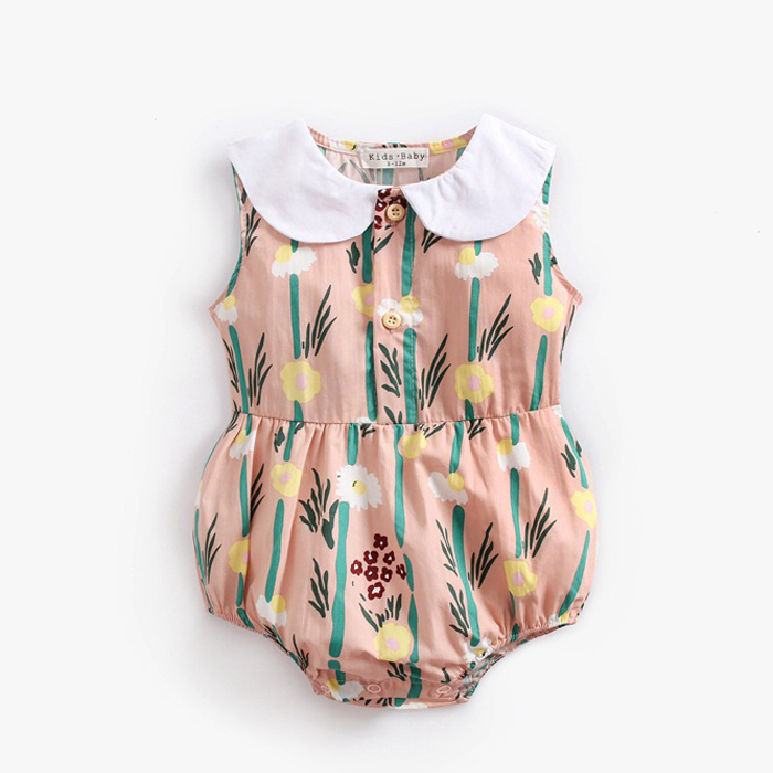 Baby CIRCLE COLLOR ROMPERS [ Pink ] 70/80/90cm
