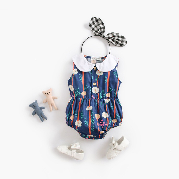 Baby CIRCLE COLLOR ROMPERS [ Blue ] 70/80/90cm
