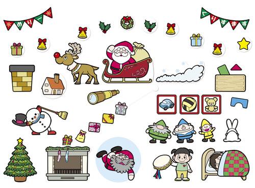 [パネルセット]カラープリントパネルシアター サンタさんの1日とクリスマスのうた