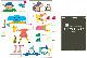 [パネルセット]カラーパネルシアター 中川ひろたか 0・1・2歳児もあそびソングパネル あしたてんきになあれ